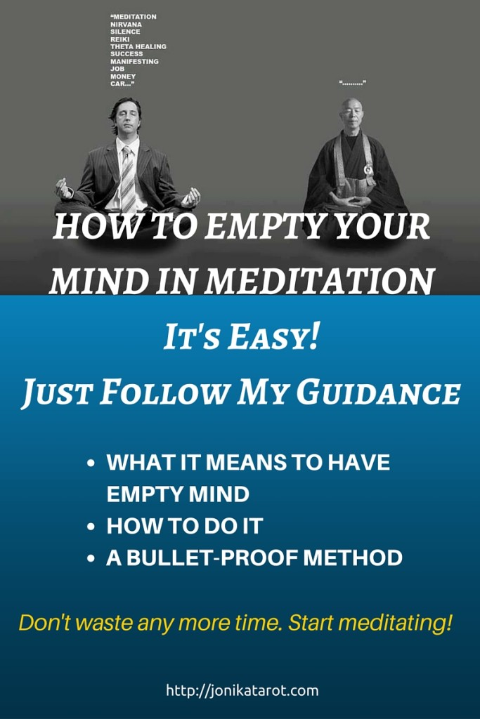 WHAT DOES IT MEAN TO EMPTY YOUR MIND IN MEDITATION.