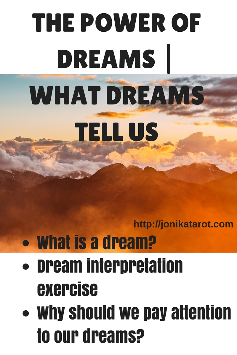 THE POWER OF DREAMS - WHAT DREAMS TELL US
