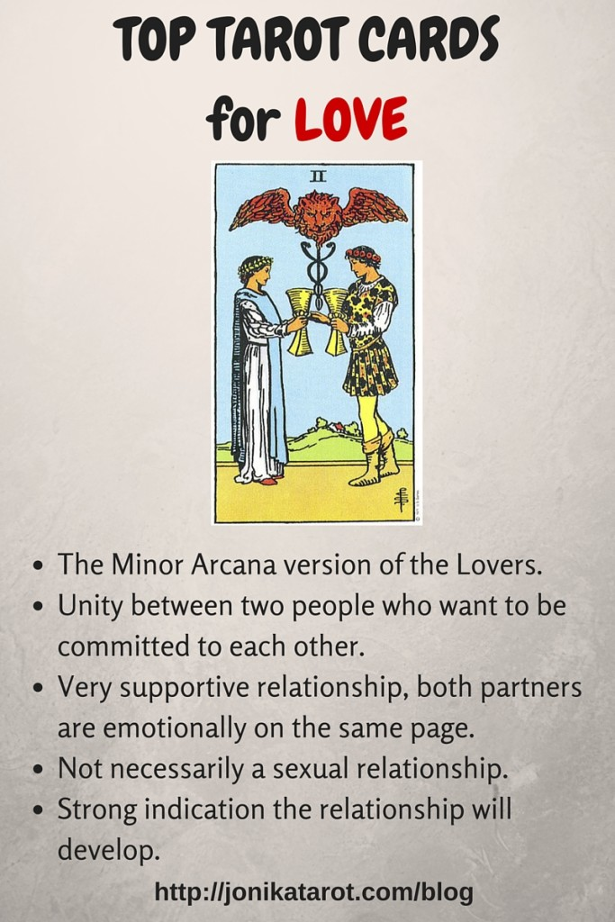 Top Tarot Cards for Love 2 of cups