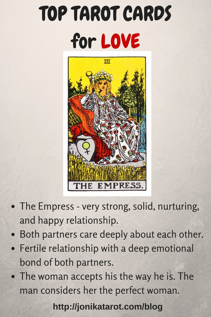 Top Tarot Cards for Love The Empress